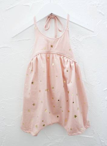 METALLIC STAR ROMPER