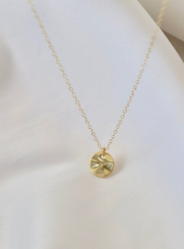 PETITE POUNDED DISC NECKLACE 1