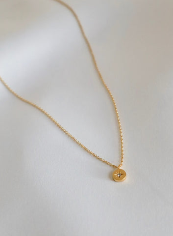 MINIATURE NORTH STAR DISC NECKLACE