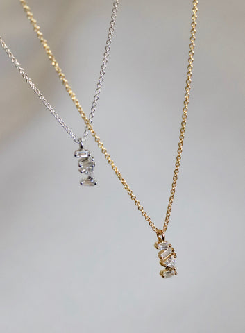 PETITE CUBIC BAR NECKLACE