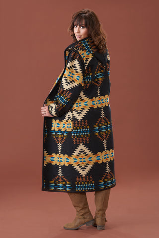 Reversible Long Wool Coat, Rancho Arroyo