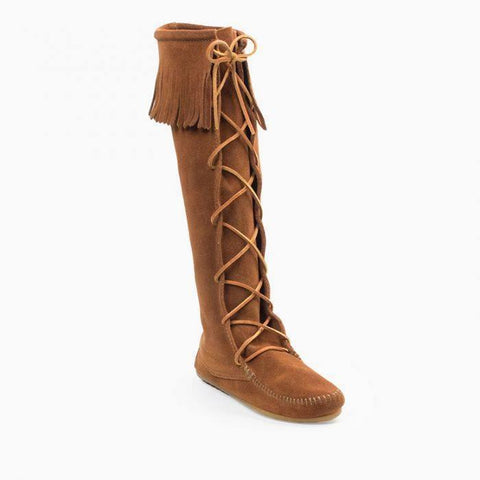Minnetonka, Women's Front Lace Knee High Boots