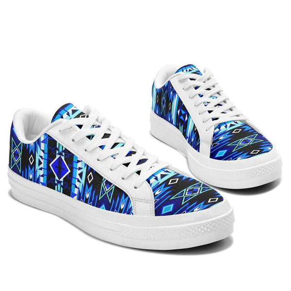 Aapisi Low Top Canvas Shoes, Force of Nature Winter Night - Kraffs Clothing