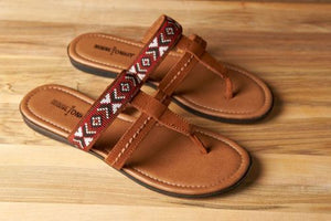 Minnetonka Moccasin Sandal, Barbados Sandal in Brown