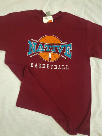 Adult Basketball Tee, Maroon