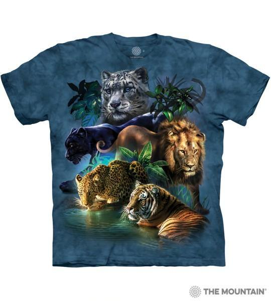 The Mountain Unisex Tee, Big Jungle Cats