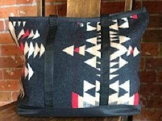 Shopping Bag, Black Diamond, Made with Pendleton® Fabric