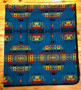 Southwest Tribal Inspired Bedspreads, Cross, Blue
