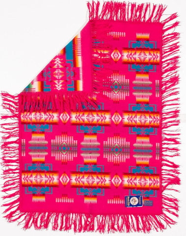 Pendleton® Chief Joseph Baby Blanket Shawl Collection, Cherry
