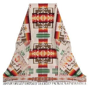 Pendleton© Chief Joseph Shawl Robe, Ivory