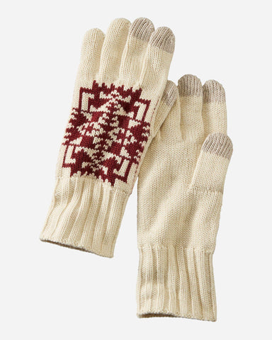 Pendleton© Knit Gloves, Chief Joseph Ivory