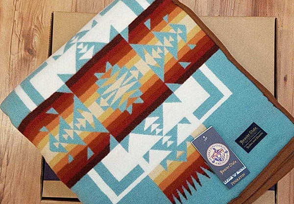 Pendleton® Chief Joseph  Blanket, Aqua