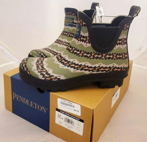 Pendleton® Women's Sonora Chelsea Rain Boots, Olive - Kraffs Clothing