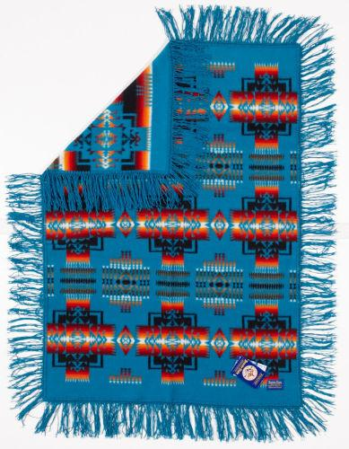 Pendleton® Chief Joseph Baby Blanket Shawl Collection, Turquoise