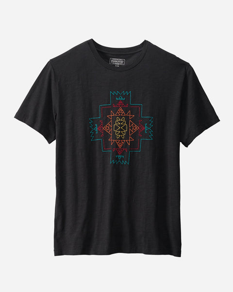 Pendleton® Heritage Embroidered Tee, Chief Joseph, Black