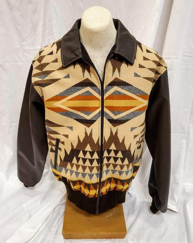 Leather Bomber Jacket, Diamond Desert