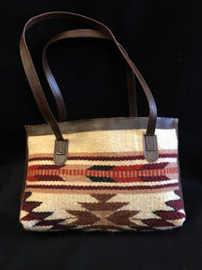 Native Inspired Duffle Purse, Brown Diamond