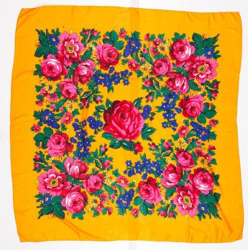 Floral Dance Scarf, Orange