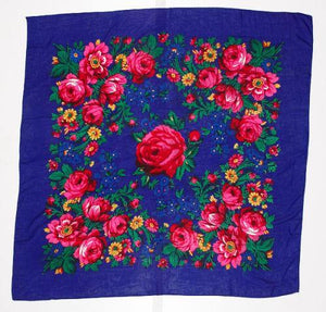 Floral Dance Scarf, Royal