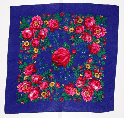 Floral Dance Scarf Royal Kraffs Clothing