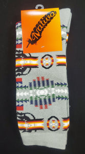 Native Style Dress Socks, Grey - Kraffs Clothing