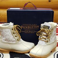 Pendleton® Duck Boots Taupe Harding Design