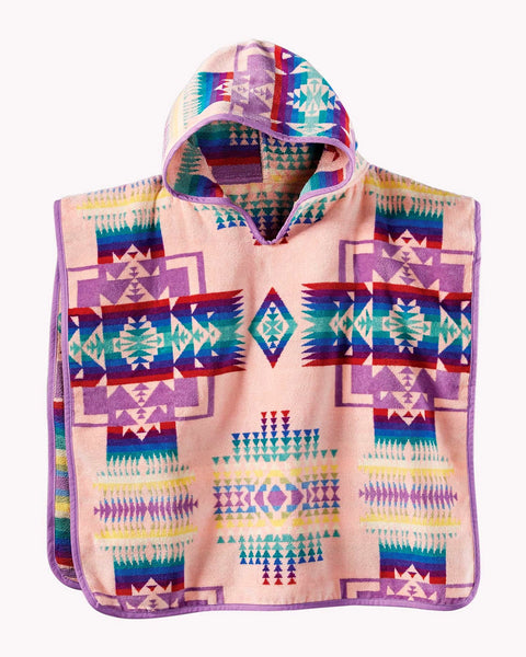Pendleton Kids Chief Joseph Jacquard Hooded Towel Pink One Size