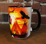 The Mountain Ceramic Coffee Mug, Indian Collage