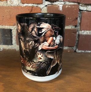 The Mountain Ceramic Coffee Mug, Arapaho Wolf Moon