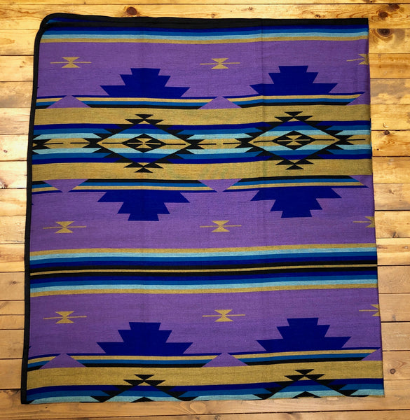 Southwest Tribal Inspired Bedspread, Canyon, Purple
