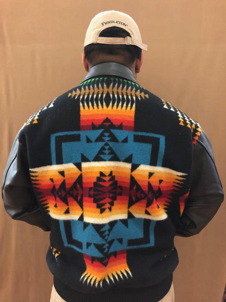 Leather Bomber Jacket, Chief Joseph Black - Kraffs Clothing