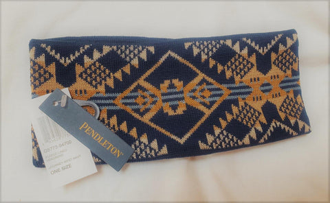 Pendleton® Fleece Lined Headband, Journey West, Navy