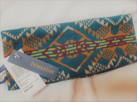 Pendleton® Fleece Lined Headband, Journey West, Turquoise