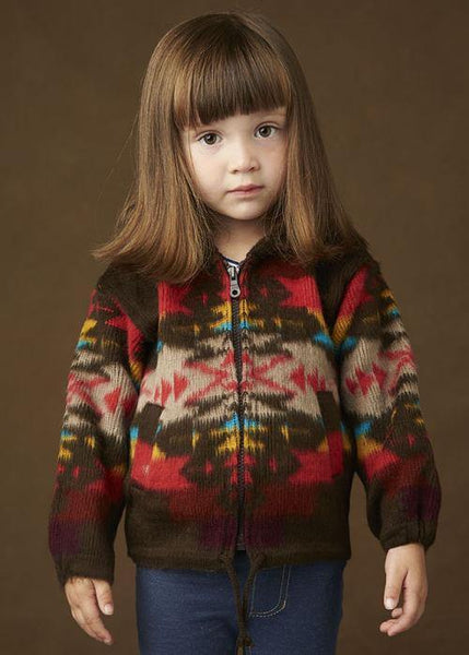 Kid's Earth Ragz, Zip Up Sweater, Brown