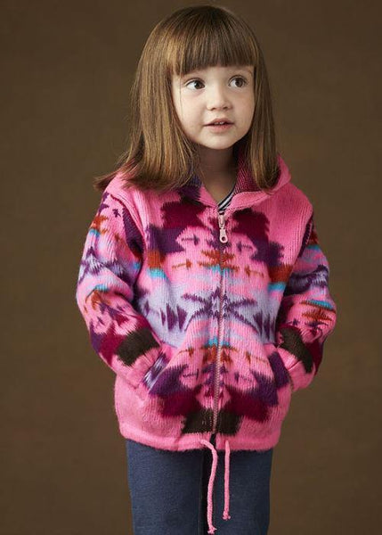 Kid's Earth Ragz, Zip Up Sweater, Pink
