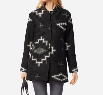 Pendleton Wool Topper Blanket Coat, Kiva Steps