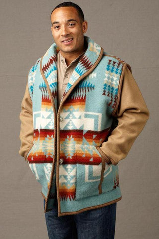 Kraff's Reversible Car Coat, Chief Joseph Aqua_1
