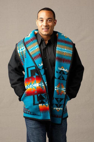 Kraff's Reversible Car Coat, Chief Joseph Turquoise_1