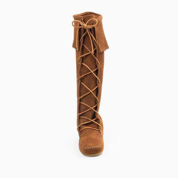 Minnetonka, Men's Front Lace Knee High Boots