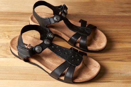Minnetonka Moccasin, Sandal, Dixie, Black