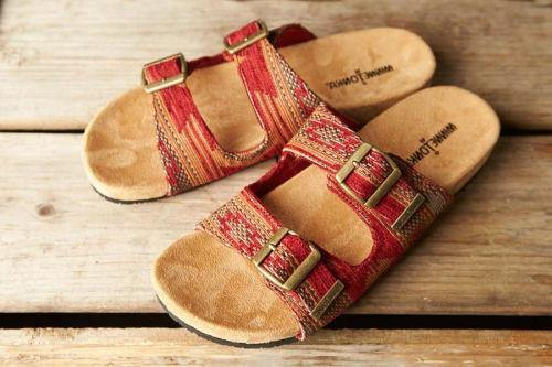 Minnetonka Moccasin, Sandal, Gypsy, Red