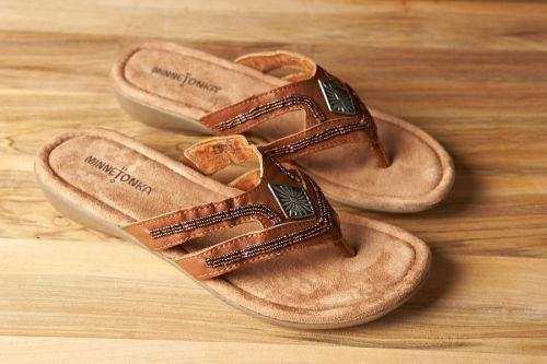 Minnetonka Moccasin Sandal, Roswell, Brown