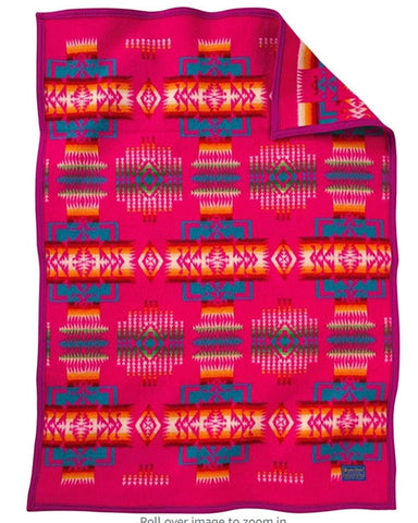 Pendleton® Chief Joseph Baby Blanket Collection, Cherry