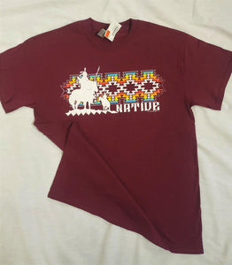 Adult Native Skittles Tee, Maroon