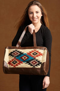 Native Inspired Duffle Bag, Five Diamonds