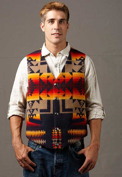Native Vest, Chief Joseph Indigo_1