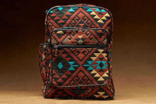New West Native Style Backpack, Accent Rust