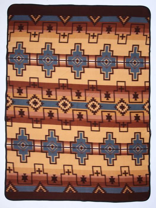 El Paso Lodge Fleece Blanket #1B