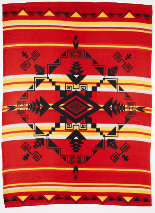 Pacific Blanket Polar Fleece, God's Eye, Red