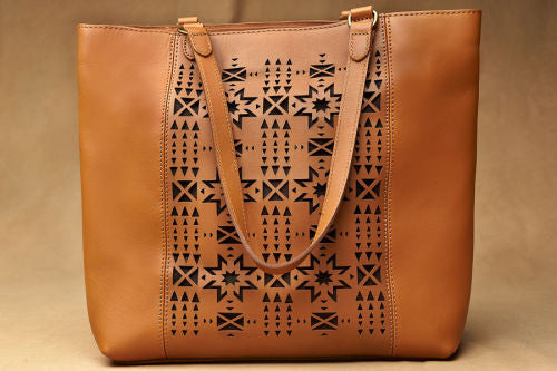 Pendleton® Laser Cut Tote, Walnut